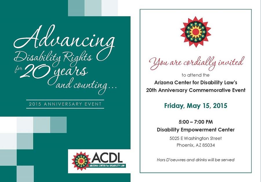 ACDL 20th Anniversary Invite - 1/2