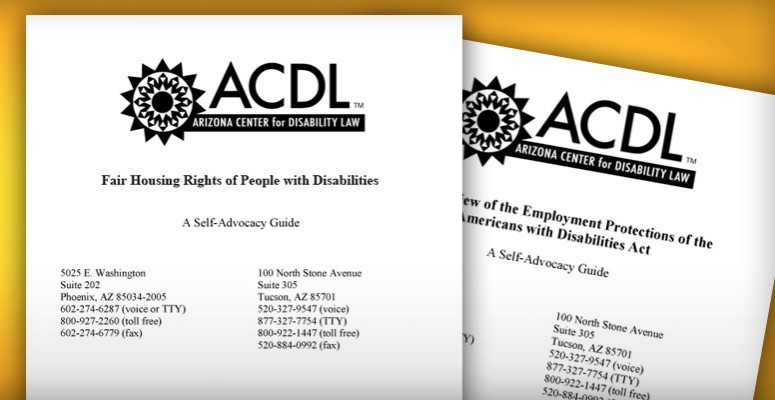 Example Arizona Center for Disability Law Self-Advocacy Materials (Printed Forms)