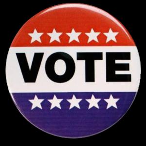 Red White & Blue Vote Button